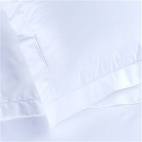 White Percale Duvet Cover with Poppers
