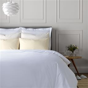 Out of Eden Easycare Percale Bed Linen White