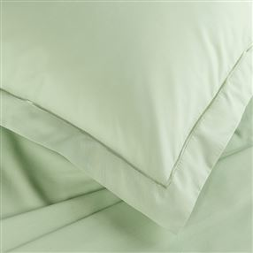 Green Percale Duvet Cover