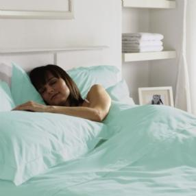 Duck Egg Percale Flat Sheet