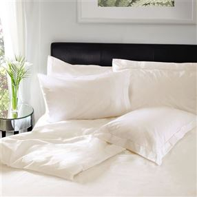Housewife Pillowcase 200tc 100% Cotton  Pair Ivory