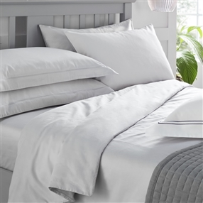 300tc 100% Cotton Bed Linen Silver Grey