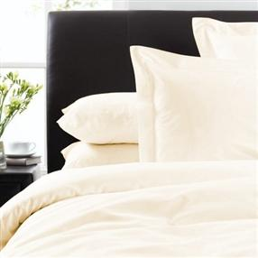 Housewife Pillowcase Ivory 300tc Cotton Pair