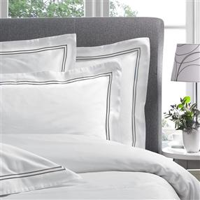Corded 300TC Oxford Pillowcase Silver Grey