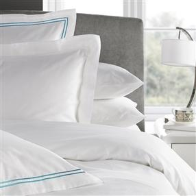 300TC Corded Oxford Pillowcase Duck Egg