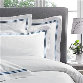 Corded 300TC Oxford Pillowcase Deep Navy