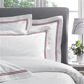 Corded 300TC Oxford Pillowcase Burgundy