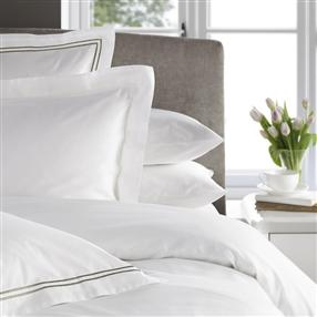 300TC Corded Oxford Pillowcase Latte