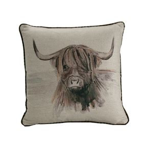 Highland Cow Filled Cushion