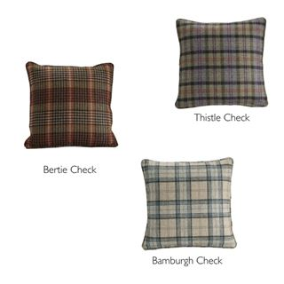 Out of Eden Catriona Filled Cushion Bamburgh Check
