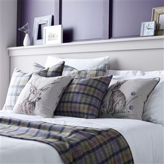 Out of Eden Catriona Filled Cushion Thistle Check