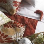 Fern Throw Red