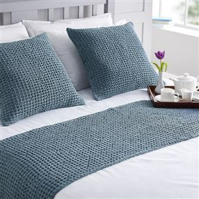 Apertex Hampton Filled Cushion Smoky Blue