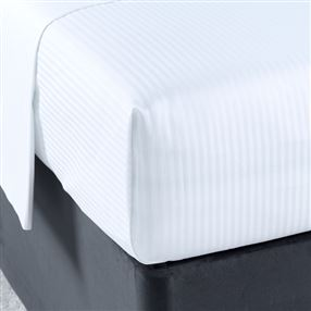 300 Thread Count Pure Cotton Micro Stripe Flat Sheet