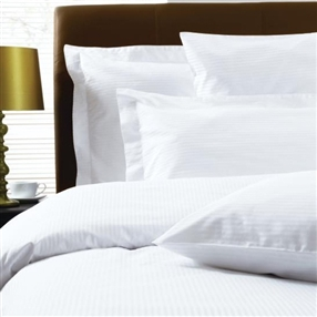 300 Thread Count Pure Cotton Micro Stripe Duvet Cover