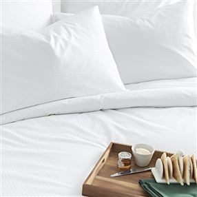 Out of Eden 300 Thread Count Pure Cotton Micro Stripe Bed Linen