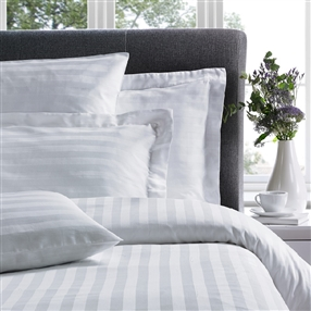 "Satin Stripe 1"" XL Oxford Pillowcase White 50 X 90cm Pair"