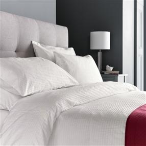 Boston Cotton Seersucker Duvet Cover Set Ivory