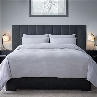Bordalima Boston Cotton Seersucker Duvet Cover Set White