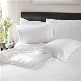 Luxury Woodsilk Sateen 300 Thread Count Bed Linen White
