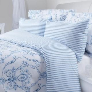 Elizabeth Blue Duvet Covers, Pillowcases and Curtains