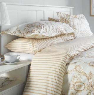 Elizabeth Natural Duvet Covers, Pillowcases and Curtains