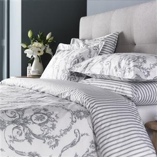 Elizabeth Silver Grey Duvet Covers, Pillowcases and Curtains