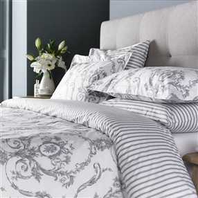 Elizabeth Silver Grey Duvet Covers & Pillowcases