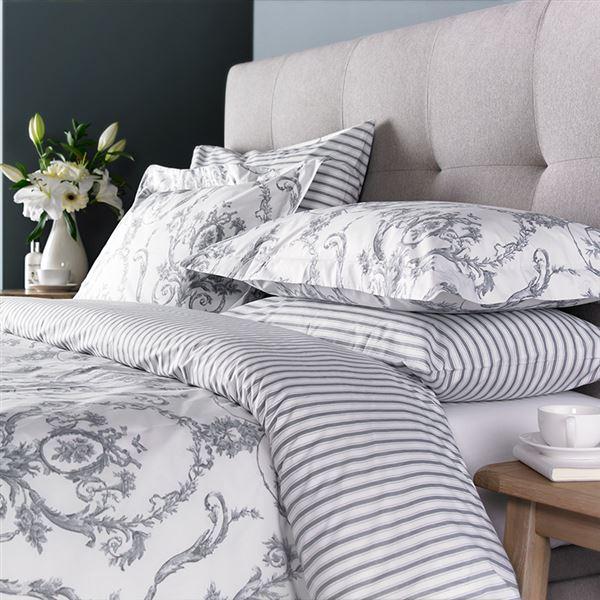 Duvet Covers Pillowcases, Grey Silver Bedding