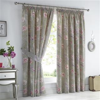 Jade Lined Curtains Stone 66 x 72""