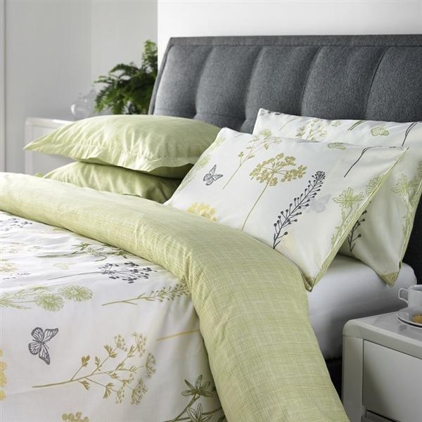 Botanique Duvet Cover Set Accessories, Gold And Sage Green Bedding