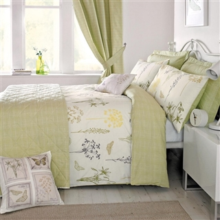 Dreams & Drapes Botanique Duvet Cover Set and Accessories