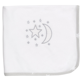 Cotton Jersey Cot Blanket Moon & Stars Design