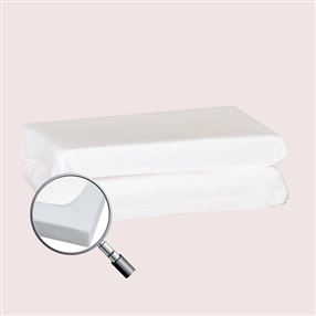 Fitted Cot Sheet 100% Cotton White Pair