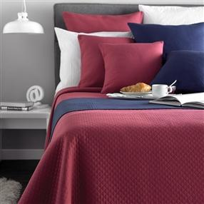 Diamond Quilted Bedspread Claret Double