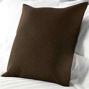 Diamond Quilted Cushion Chocolate 40x40cm