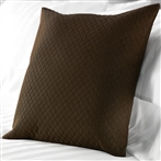 Diamond Quilted Cushions in Chocolate