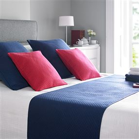 Colma Co Diamond Quilted Cushions in Navy