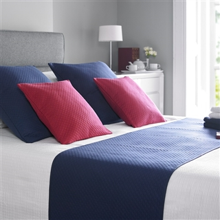 Out of Eden Diamond Quilted Bed Runners Navy