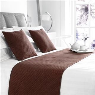 Out of Eden  Diamond Quilted Bed Runner Chocolate