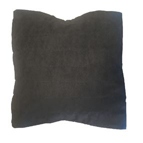 Faux Suede Cushion in Chocolate