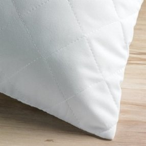 "Quilted Polycotton Pillow Protector (19 x 29"")"
