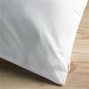 Classic Cotton 233 Thread Count Pillow Protector with Zip, Extra Long