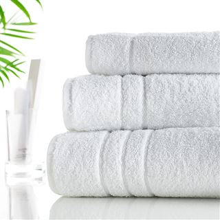 500g Hotel Towels & Facecloths White