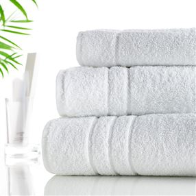Classic Cotton Towels and Face Cloths 500g White