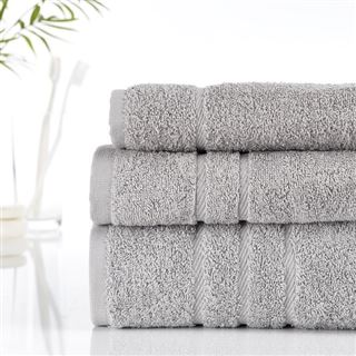 500g Hotel Towels & Facecloths Silver Grey