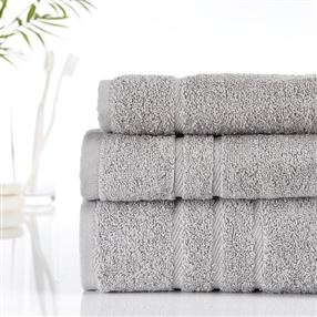Classic Cotton Towels and Face Cloths 500g Silver Grey