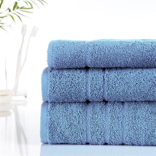 Ultimate 500g Hotel Towels Cornflower Blue Out Of Eden