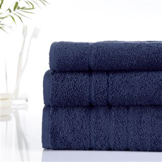 500g Hotel Towels & Facecloths Deep Navy