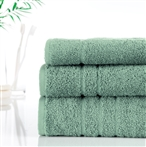500g Hotel Towels & Facecloths Green